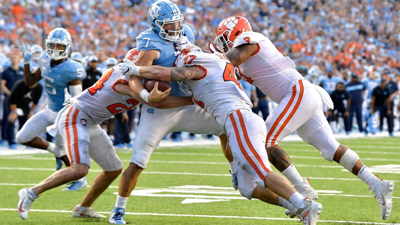 Clemson Tigers find a way to win 'ugly game' vs. unranked North Carolina Tar Heels - ESPN