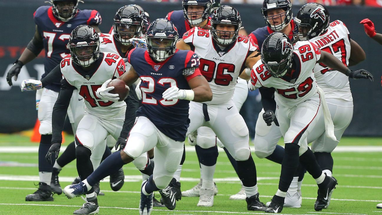 Falcons embarrassed on defense as Texans score at will