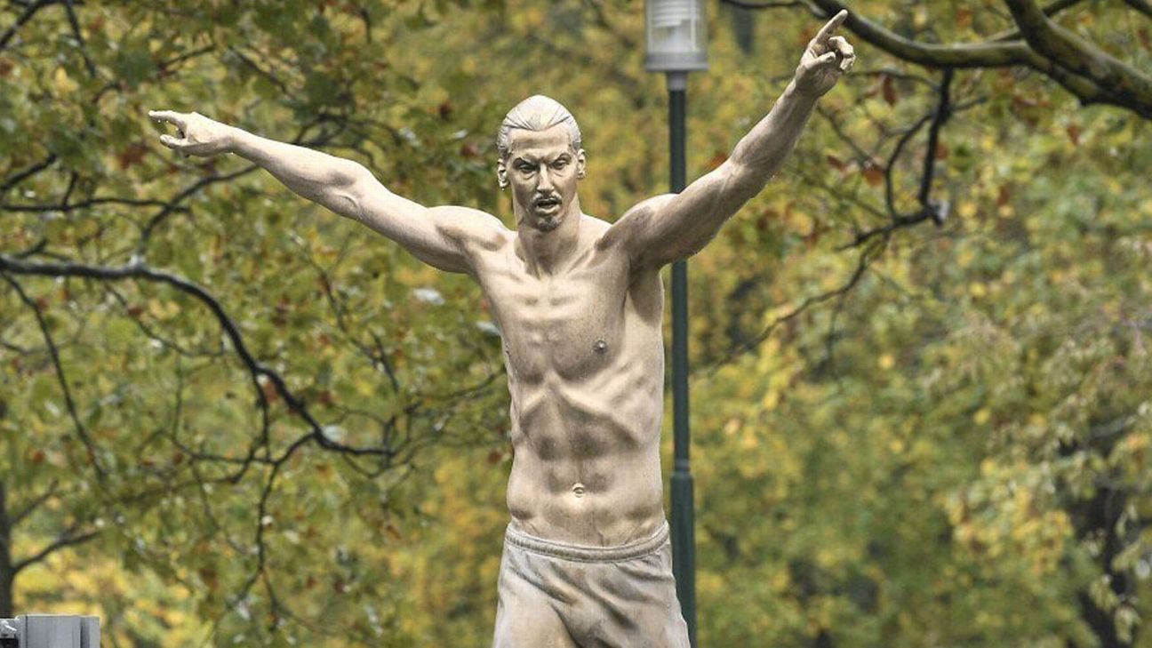 Zlatan statue set on fire after Hammarby deal
