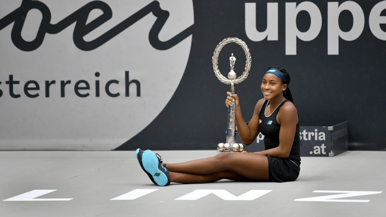 Coco Gauff defeats Jelena Ostapenko for first WTA tour title