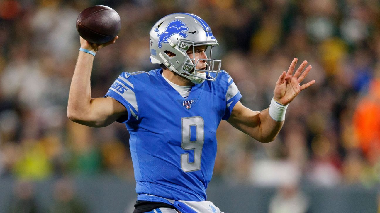 Lions' Matthew Stafford fastest to 40,000 passing yards