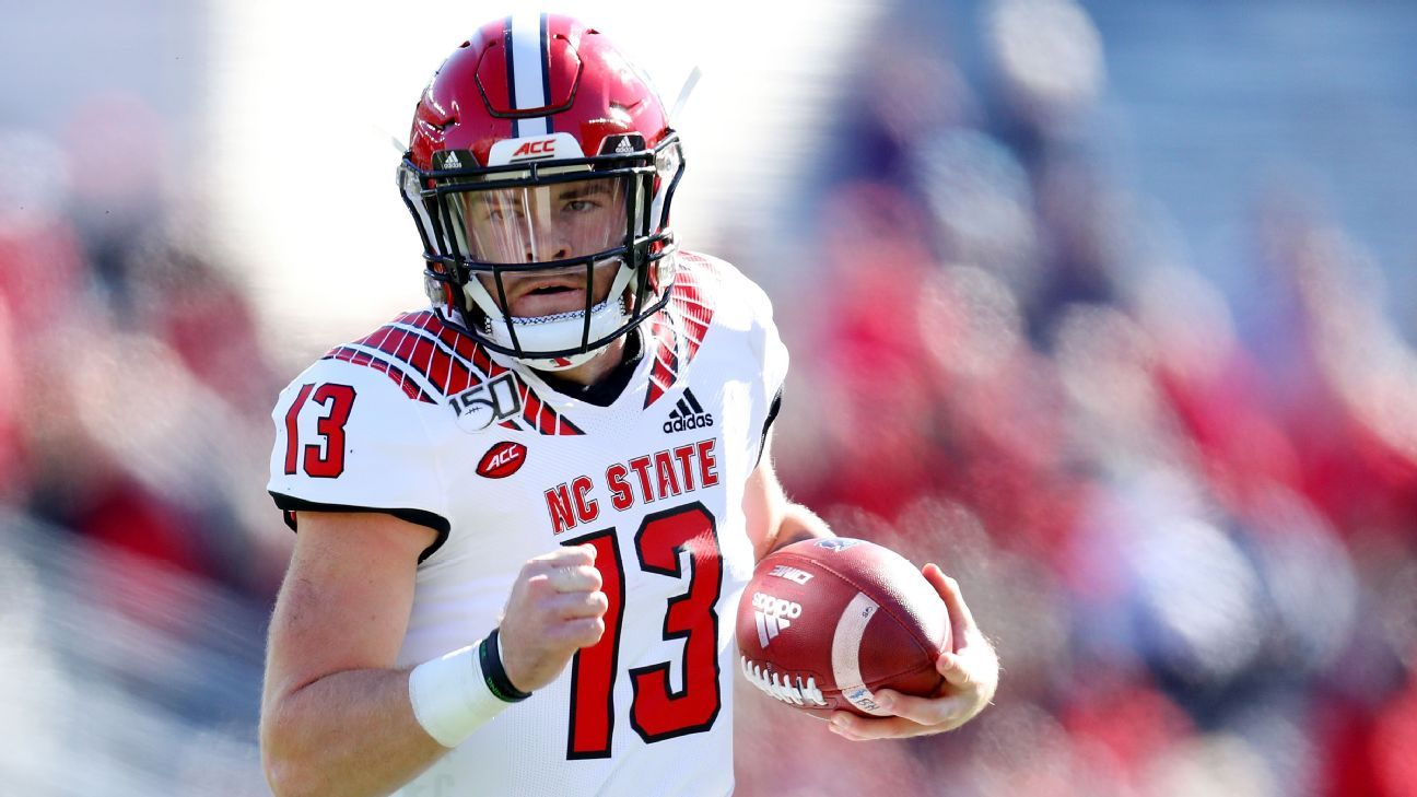 NC State QB Leary (fibula) to miss 4-8 weeks