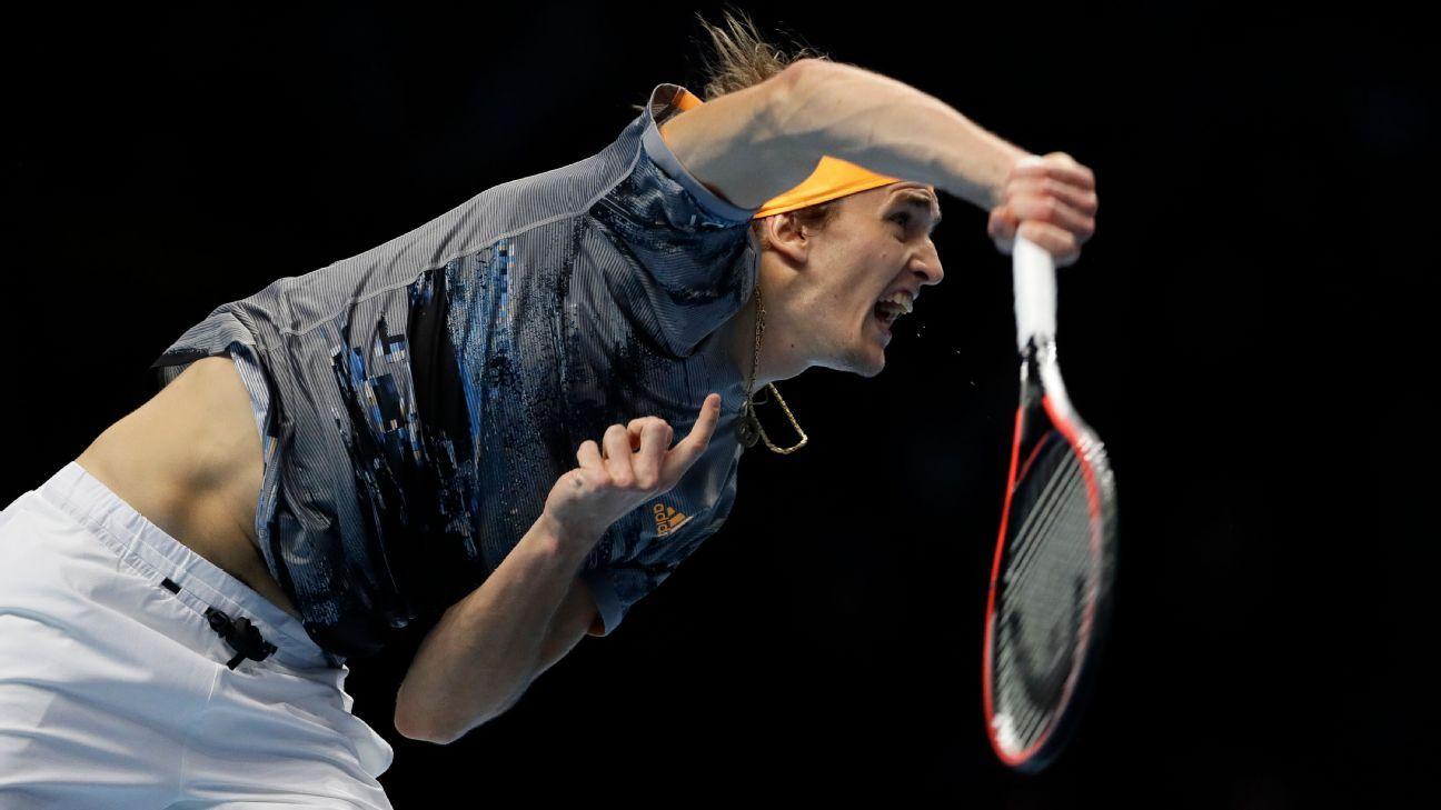 Defending champ Alexander Zverev defeats error-prone Rafael Nadal at ATP Finals