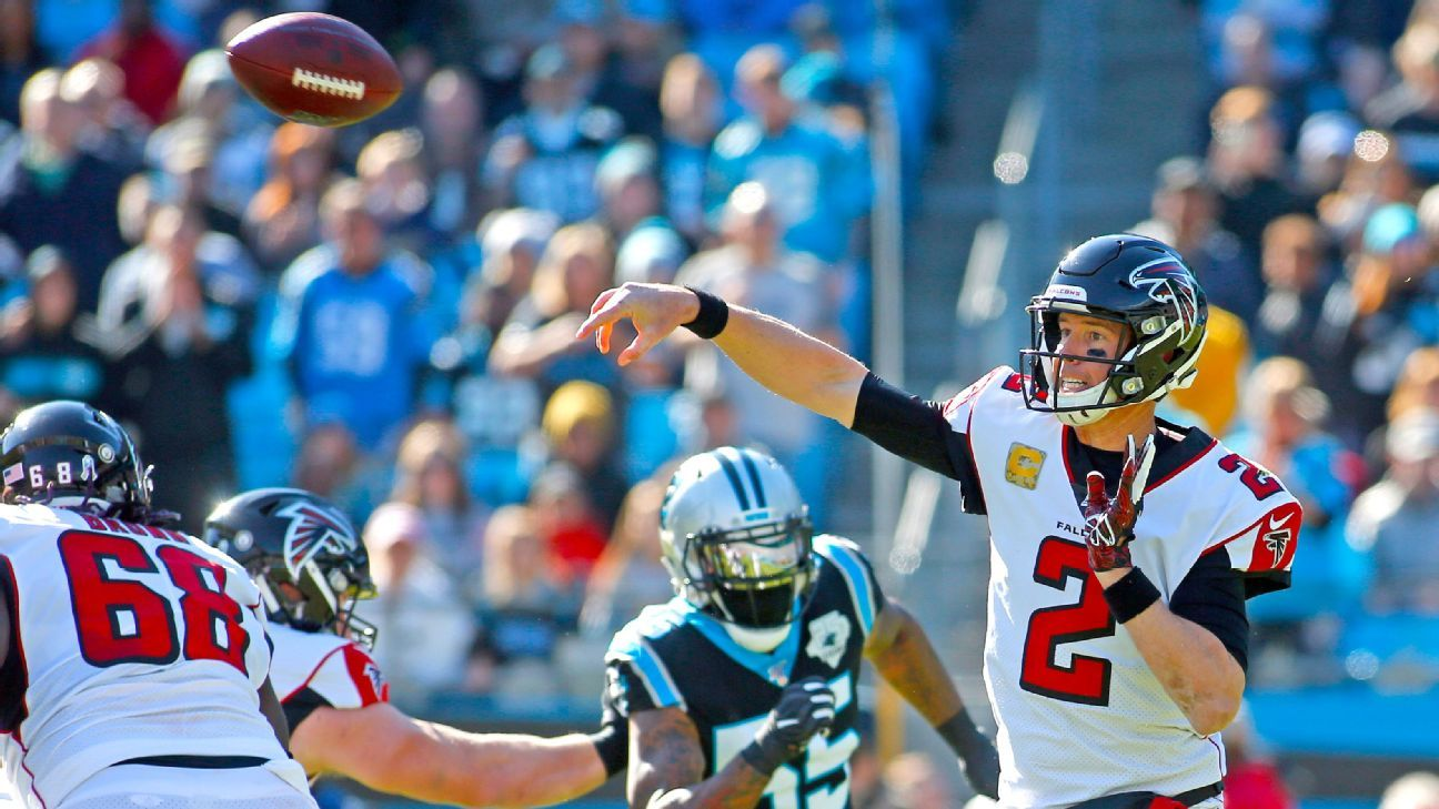 Falcons' Ryan hits top 10 all time in pass yards