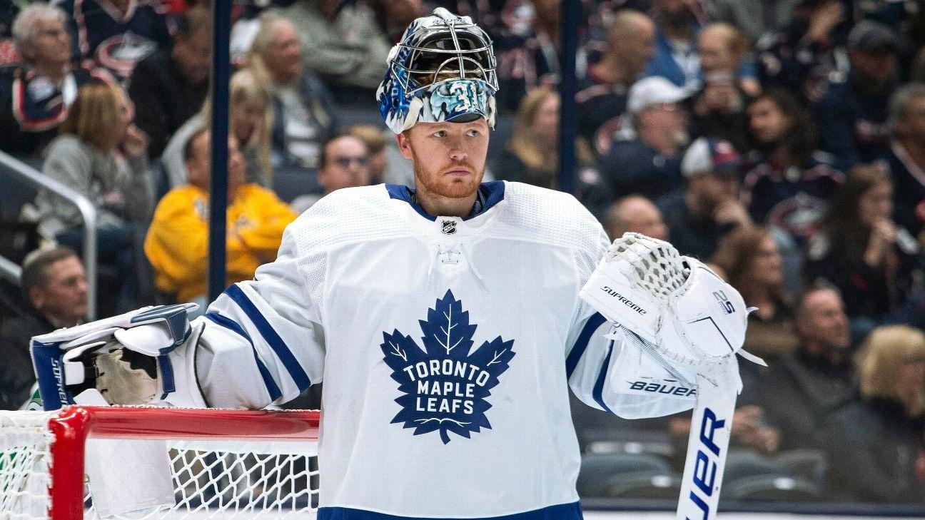 Leafs' Andersen allows 3 goals in losing return