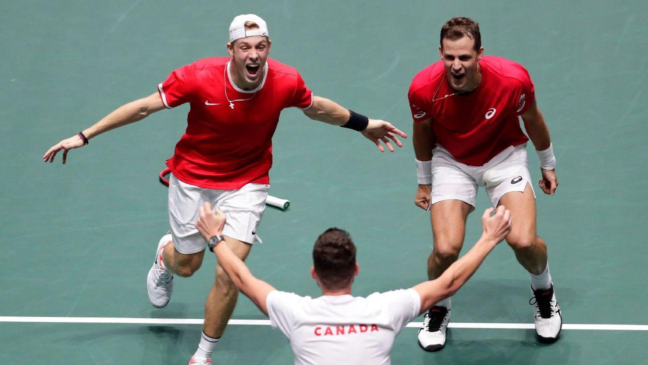 Canada beats Australia to reach Davis Cup semis