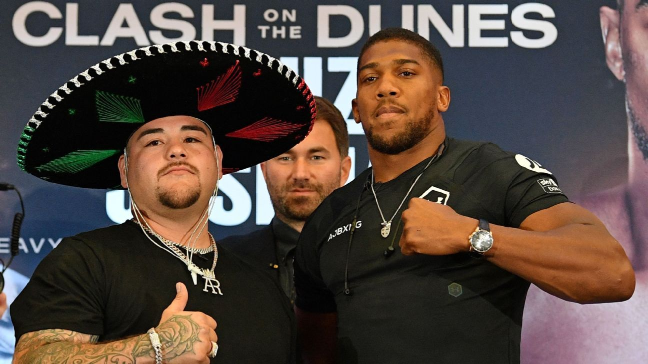 Andy Ruiz balloons to 283 pounds for rematch; Anthony Joshua slims to 237