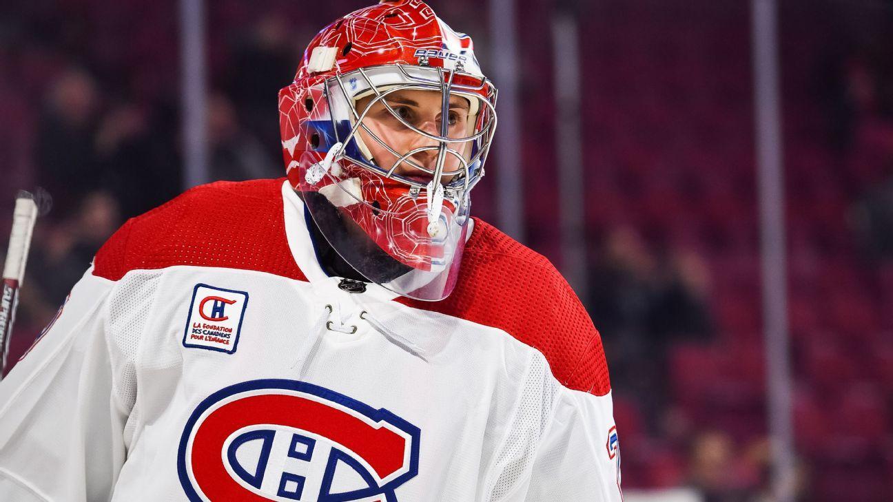 Canadiens to start Cayden Primeau, 20, in goal vs. Avs
