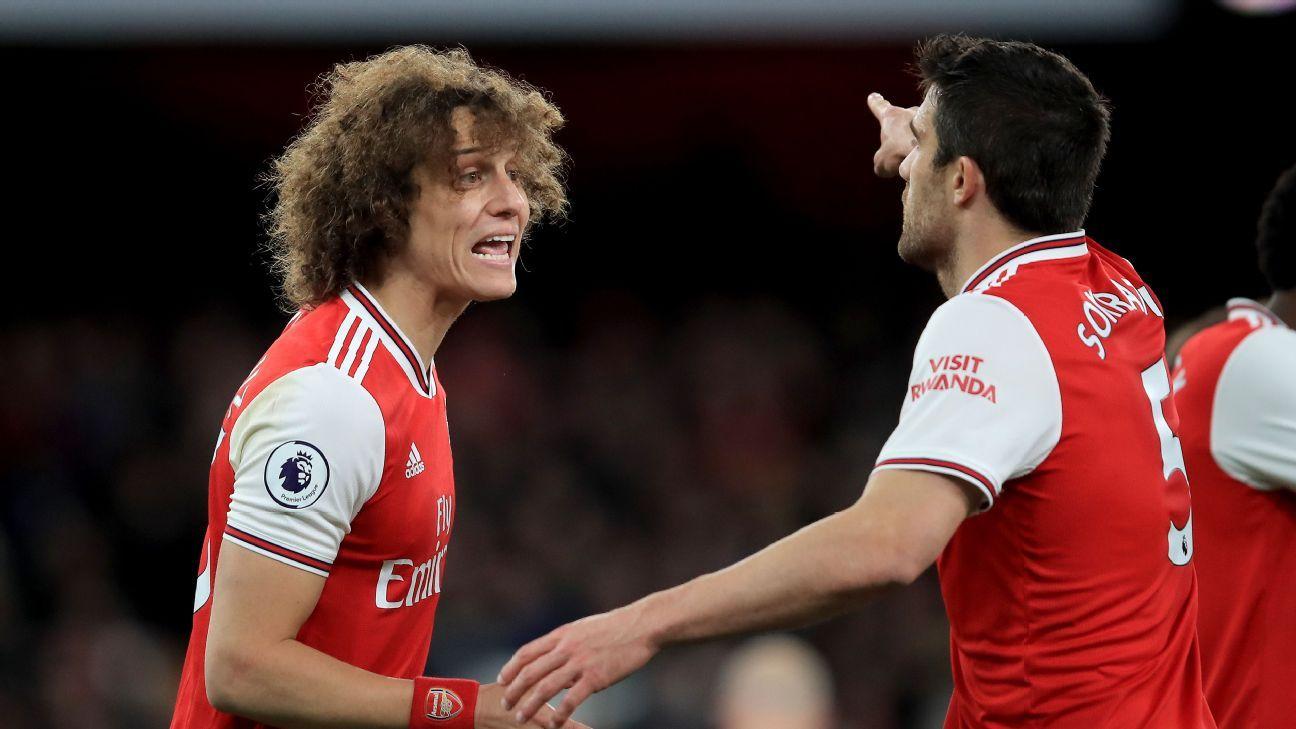 Sokratis, Luiz both 4/10 as Arsenal's winless run extends to nine