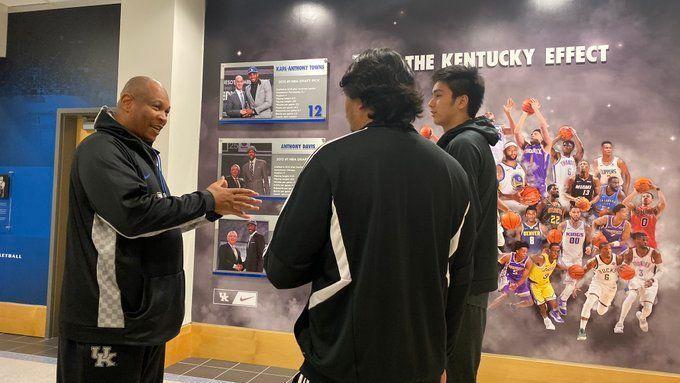 Going Blue Kai Sotto Visits University Of Kentucky