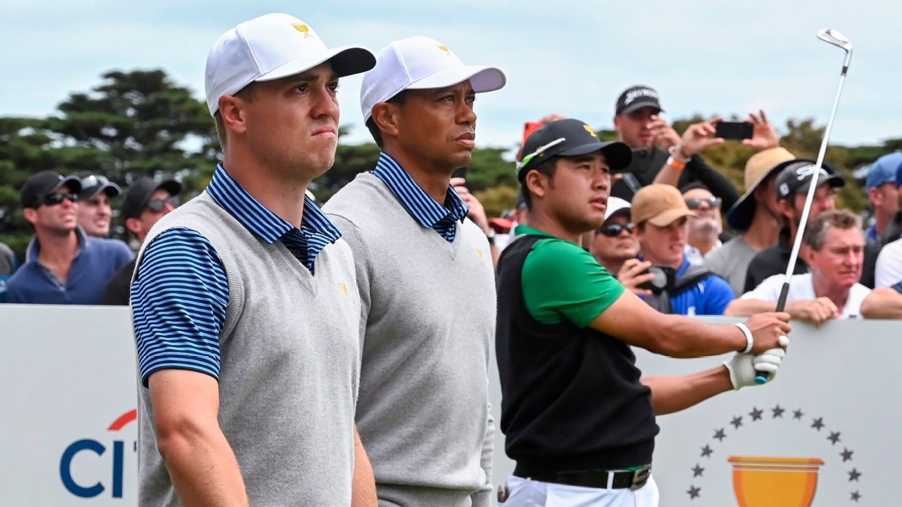 Tiger Woods skipping Saturday's early action as Justin Thomas pairs with Rickie Fowler