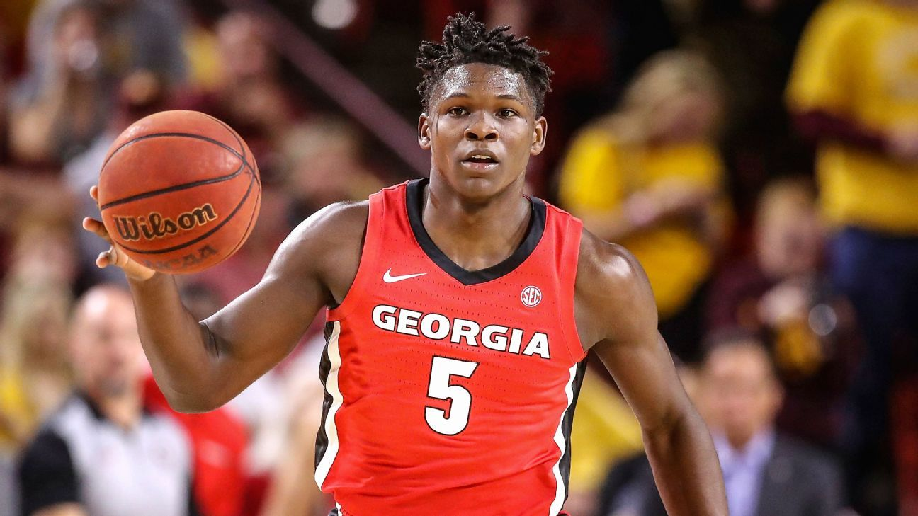 No. 1 prospect Anthony Edwards of Georgia declares for NBA draft