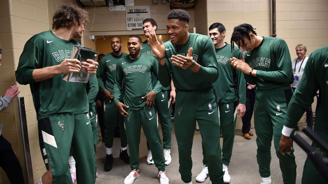 Stone Cold Stunners, King Cobras and the People's Elbow: Inside the Bucks' pregame routine