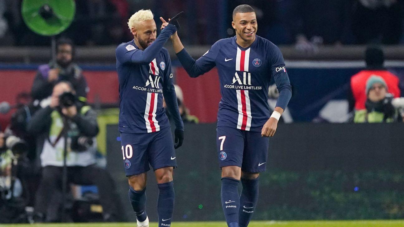 PSG coach Thomas Tuchel expects Neymar and Mbappe to play vs. Dortmund - ESPN