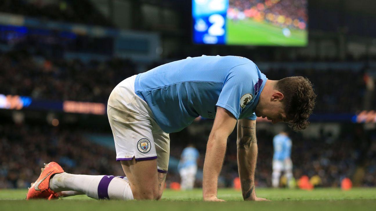 John Stones lets Man City down as Pep Guardiola's side slump to draw vs. Crystal Palace