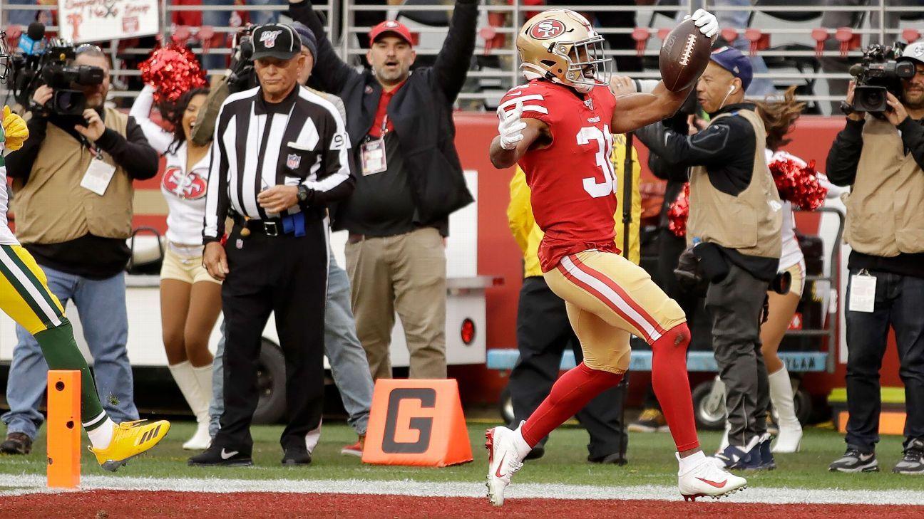 Raheem Mostert's 36-yard rushing TD puts 49ers on scoreboard first