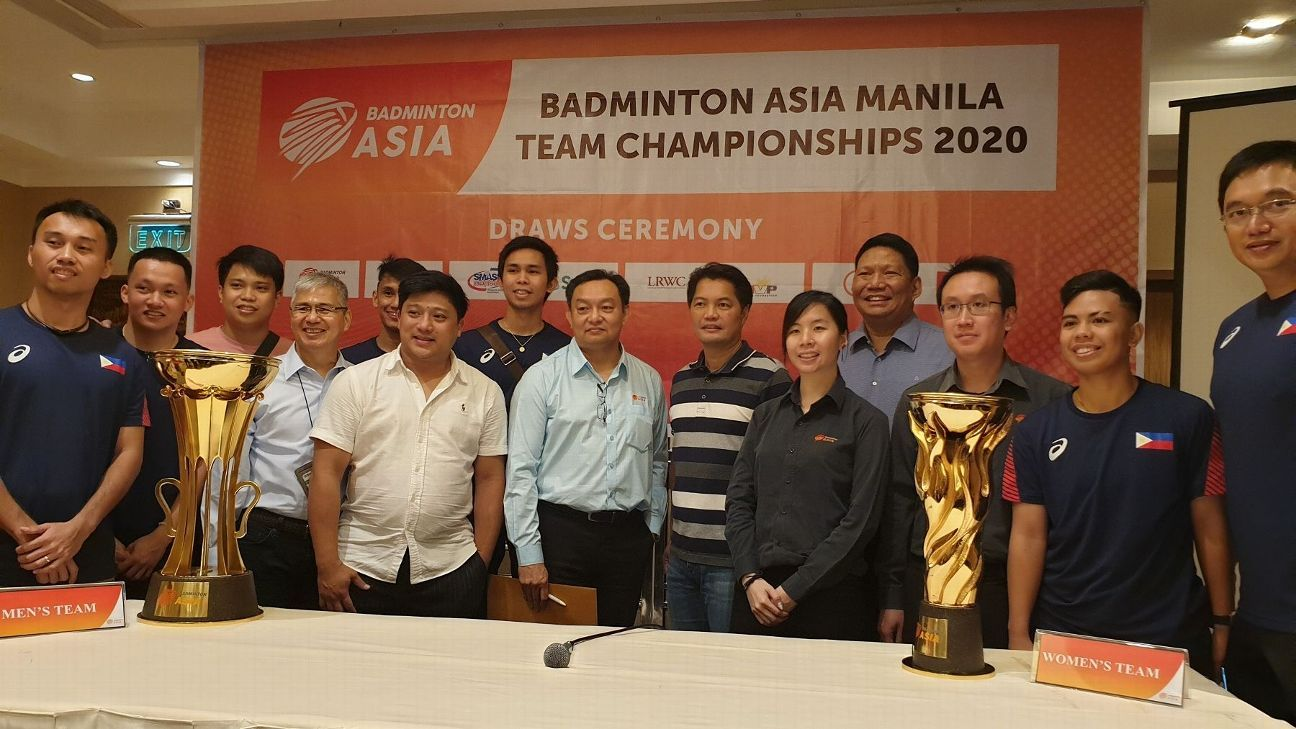 PH teams get good draws for Badminton Asia tournament