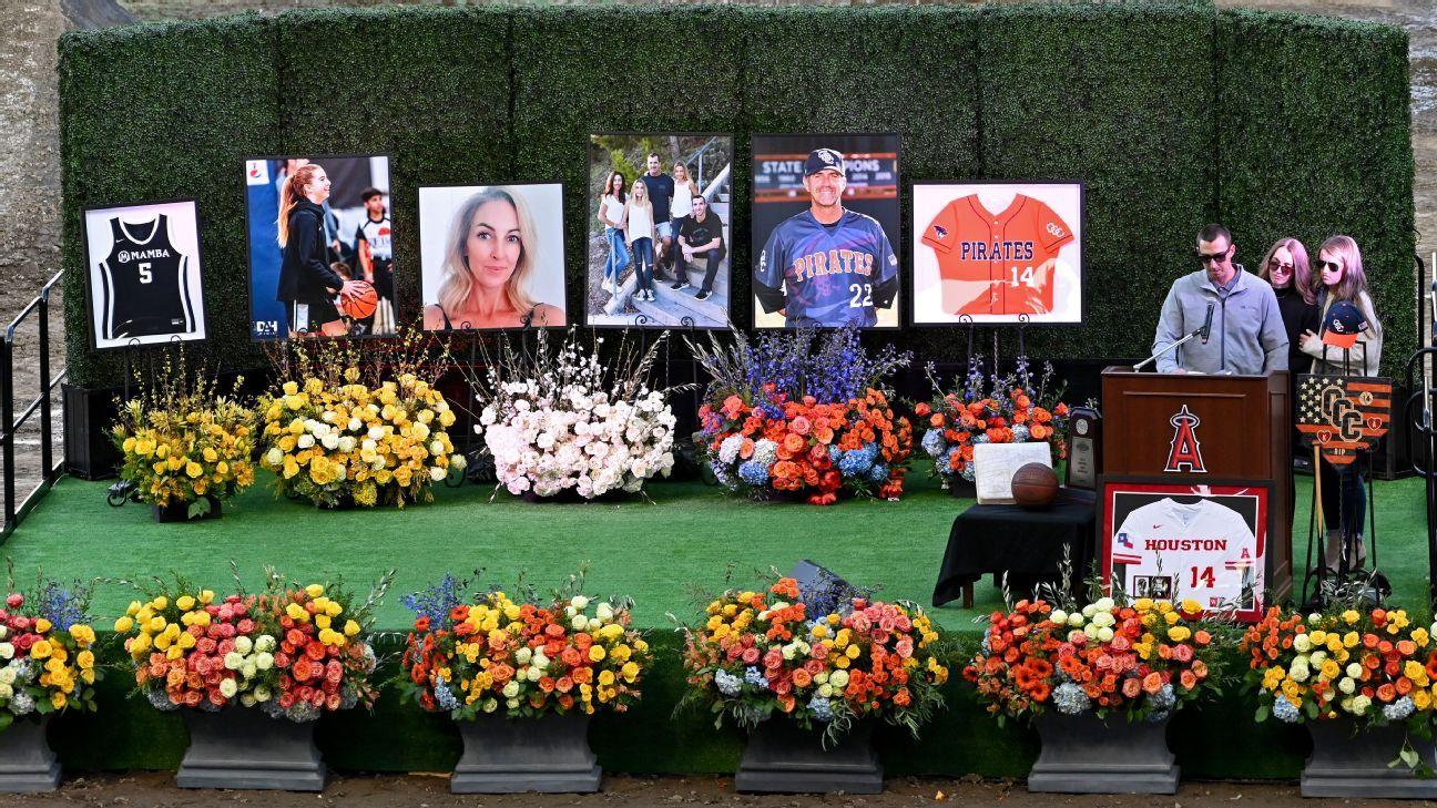Altobelli family memorial held at Angel Stadium