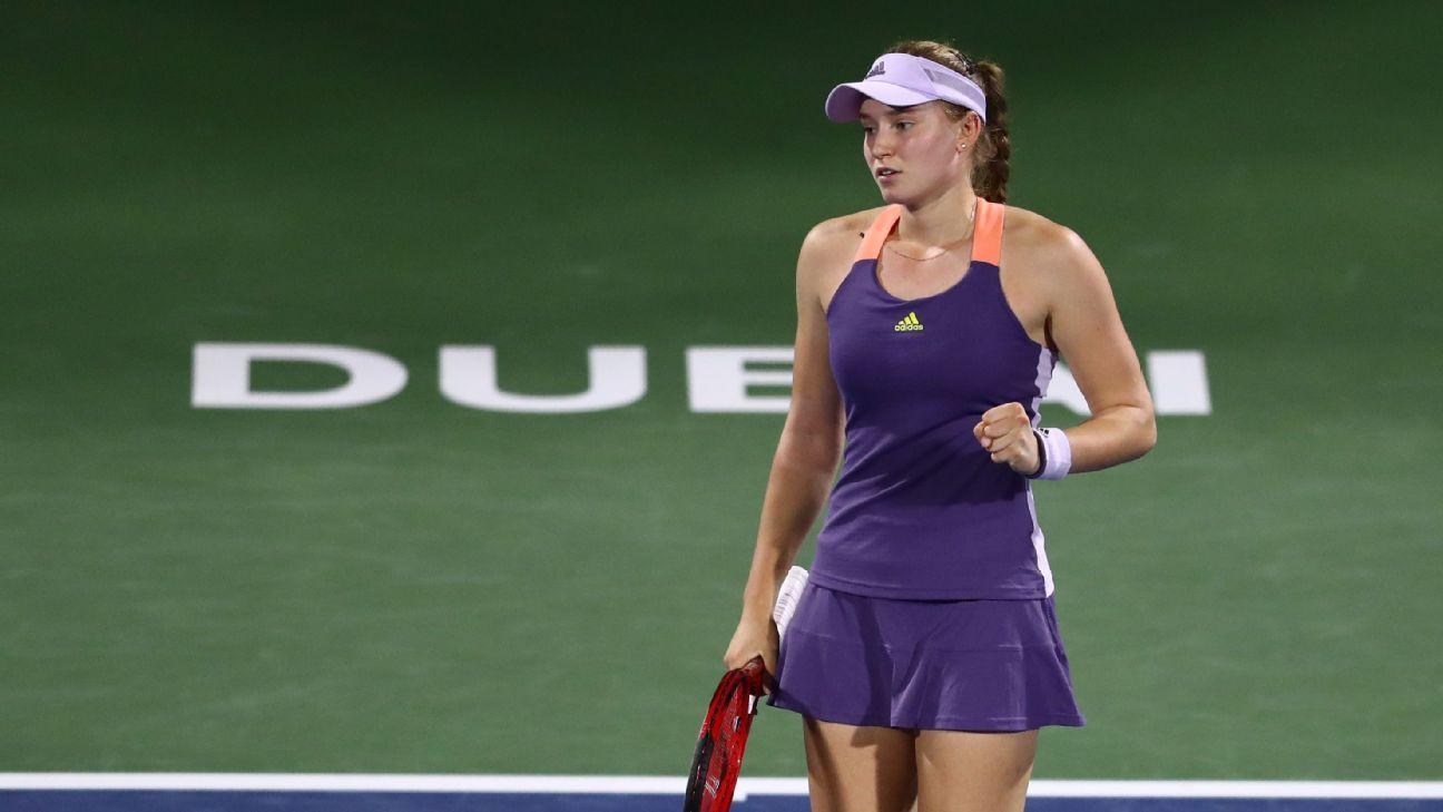 Rybakina sets up Dubai final with top seed Halep