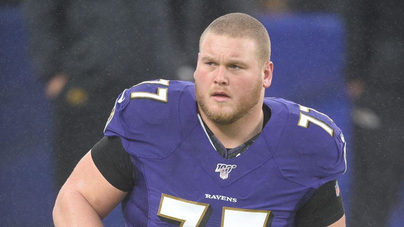 Gut feeling: Ravens lineman wins steak challenge
