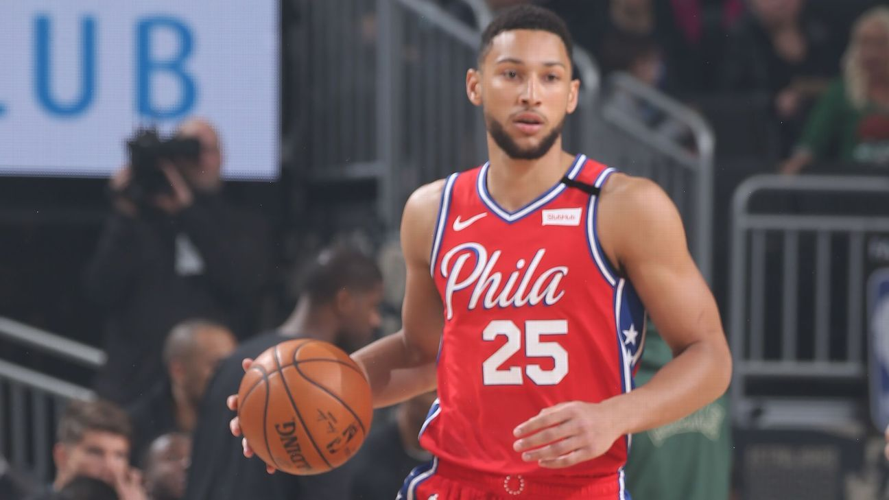 Simmons' night ends early due to lower back