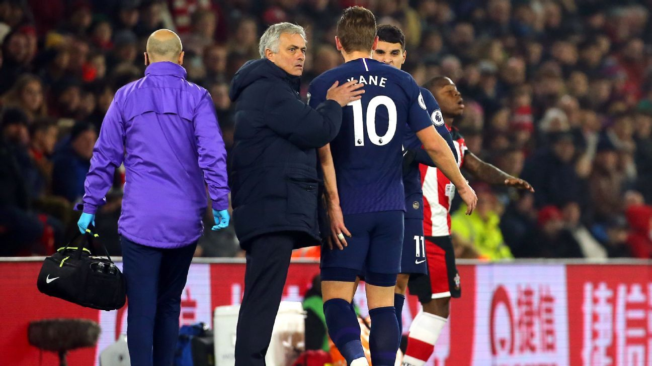 Kane ahead of schedule in recovery - Mourinho