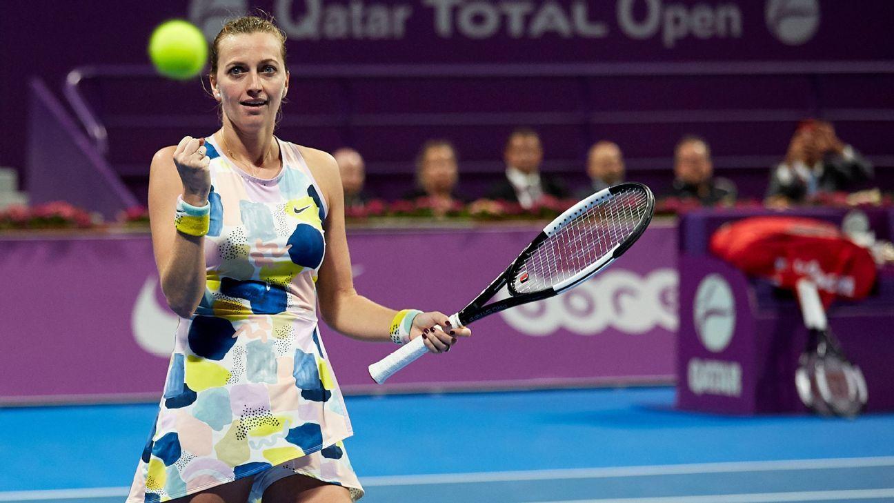 Kvitova trending up, Medvedev down as tennis' wild month begins