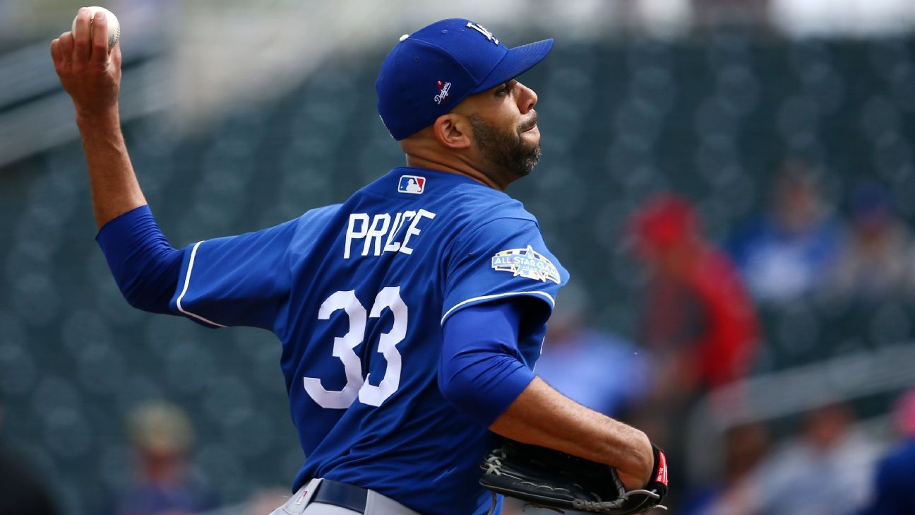 Dodgers' Price says he won't play this season