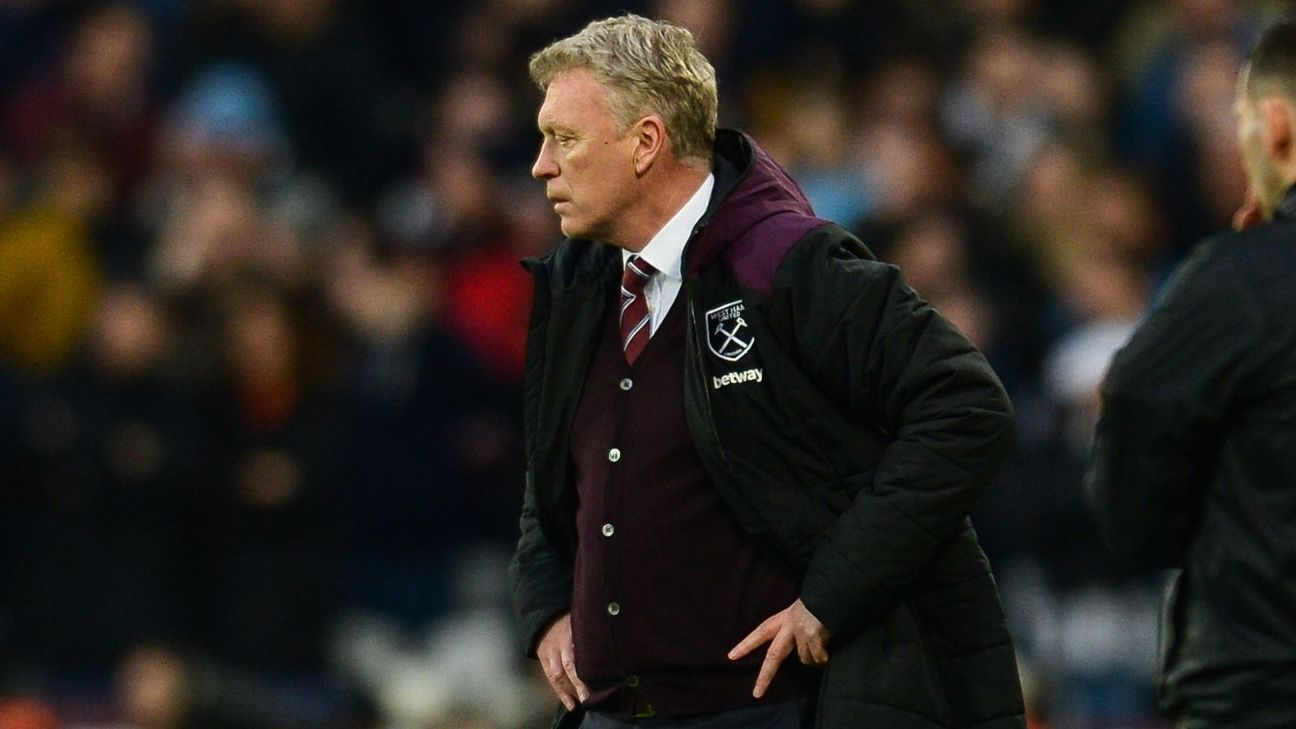 West Ham boss David Moyes, two players test positive