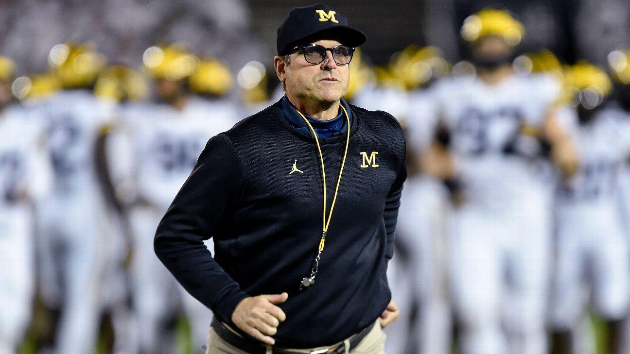 Michigan's Jim Harbaugh advocates for fall football cites 'facts' – ESPN