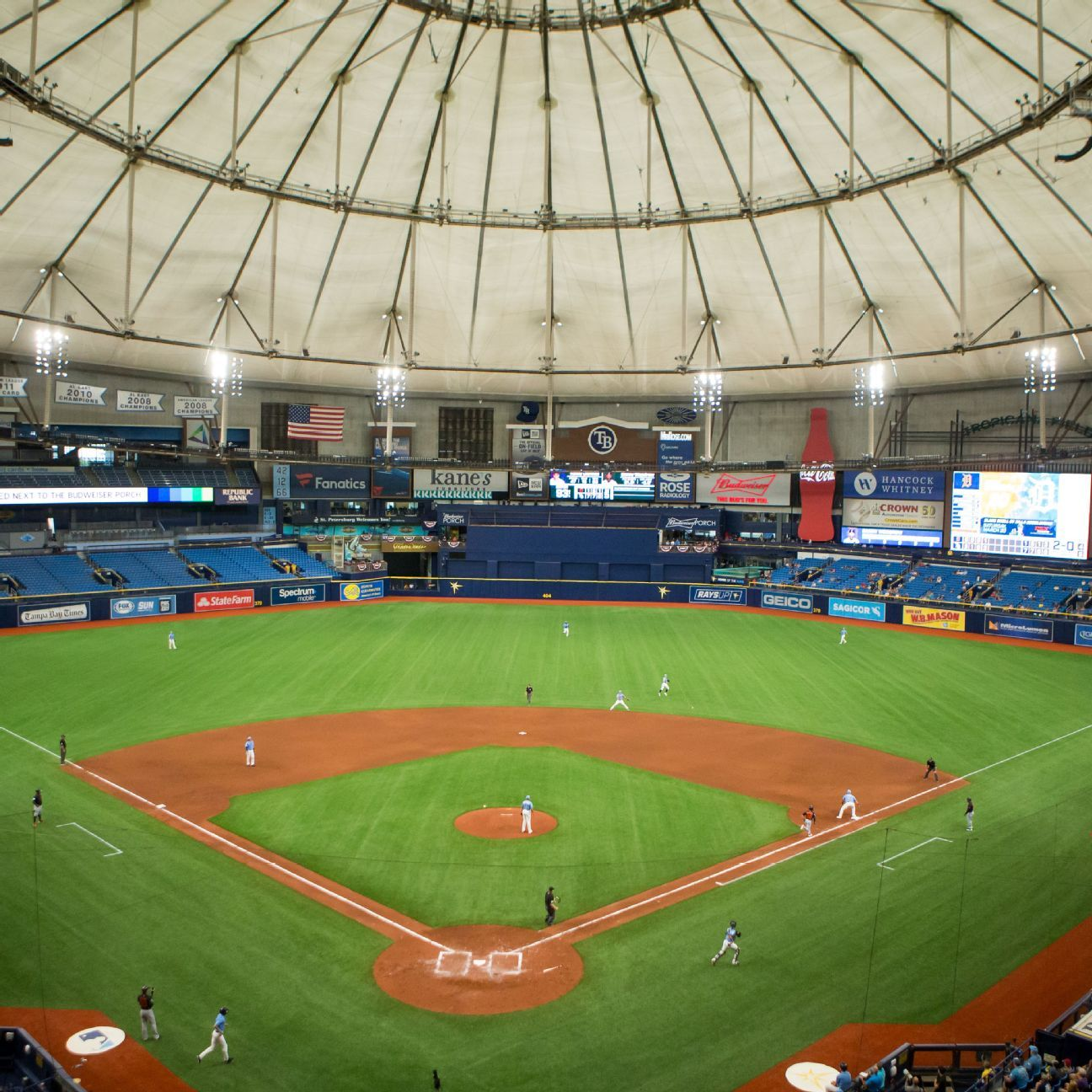 Rays open Tropicana Field for limited workouts