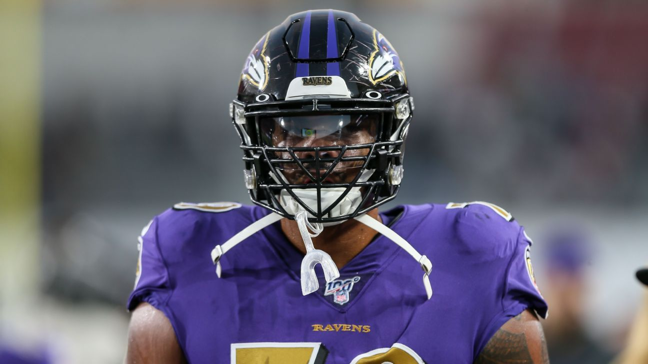 Baltimore Ravens sign LT Ronnie Stanley to five-year $98.75M extension source says – ESPN