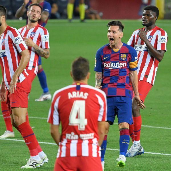 Barcelona Vs Atletico Madrid Football Match Summary June 30 2020 Espn