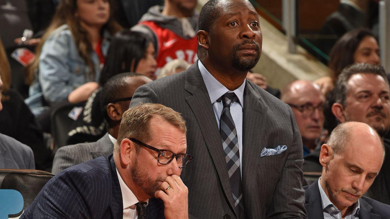 Raptors' Nick Nurse lets assistant Adrian Griffin take coaching reins vs. Sixers – ESPN