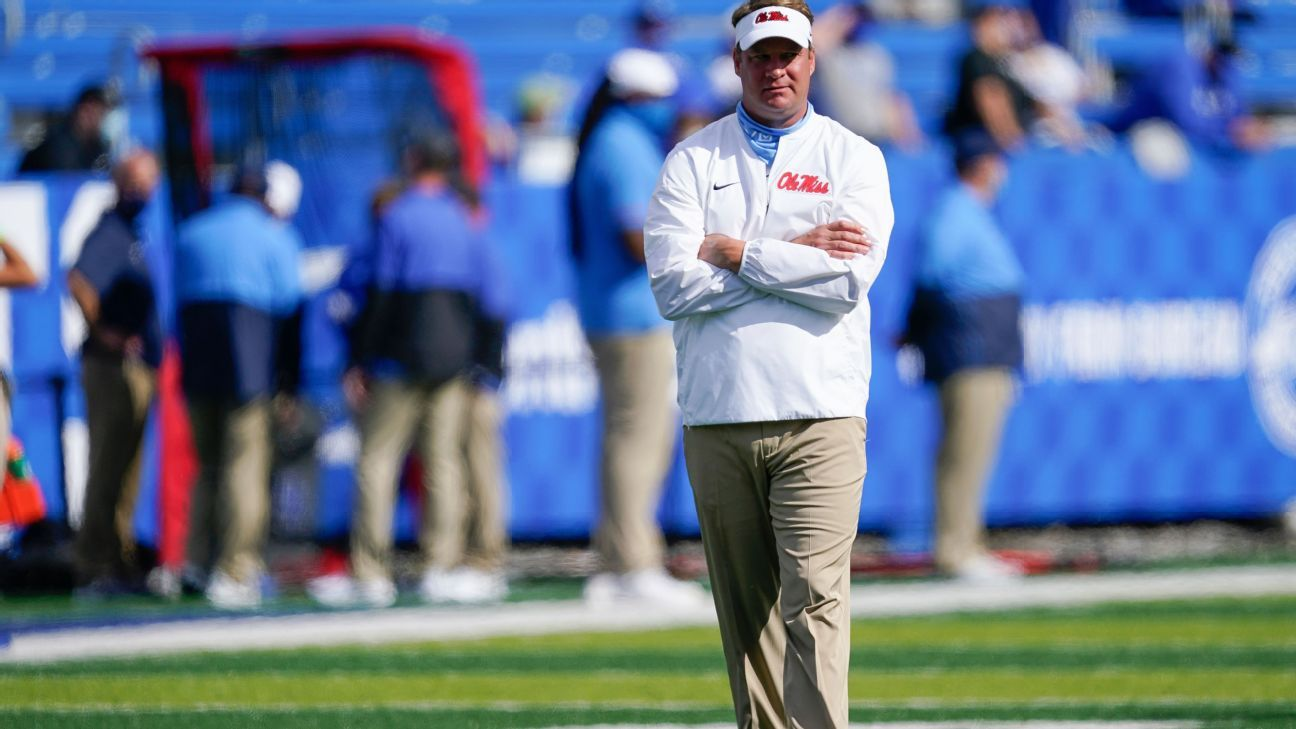 Coach Lane Kiffin says Ole Miss football program has reached 100% vaccination rate
