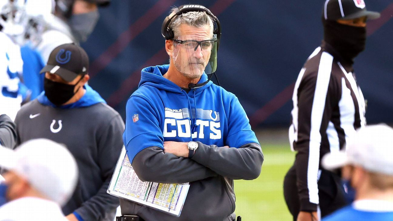 Indianapolis Colts coach Frank Reich tests positive for COVID-19 despite being vaccinated