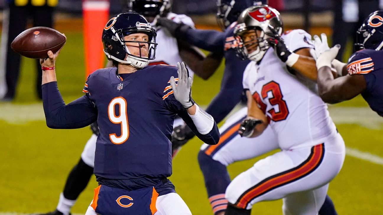 Bears' Nagy sticking with playcalling, QB Foles