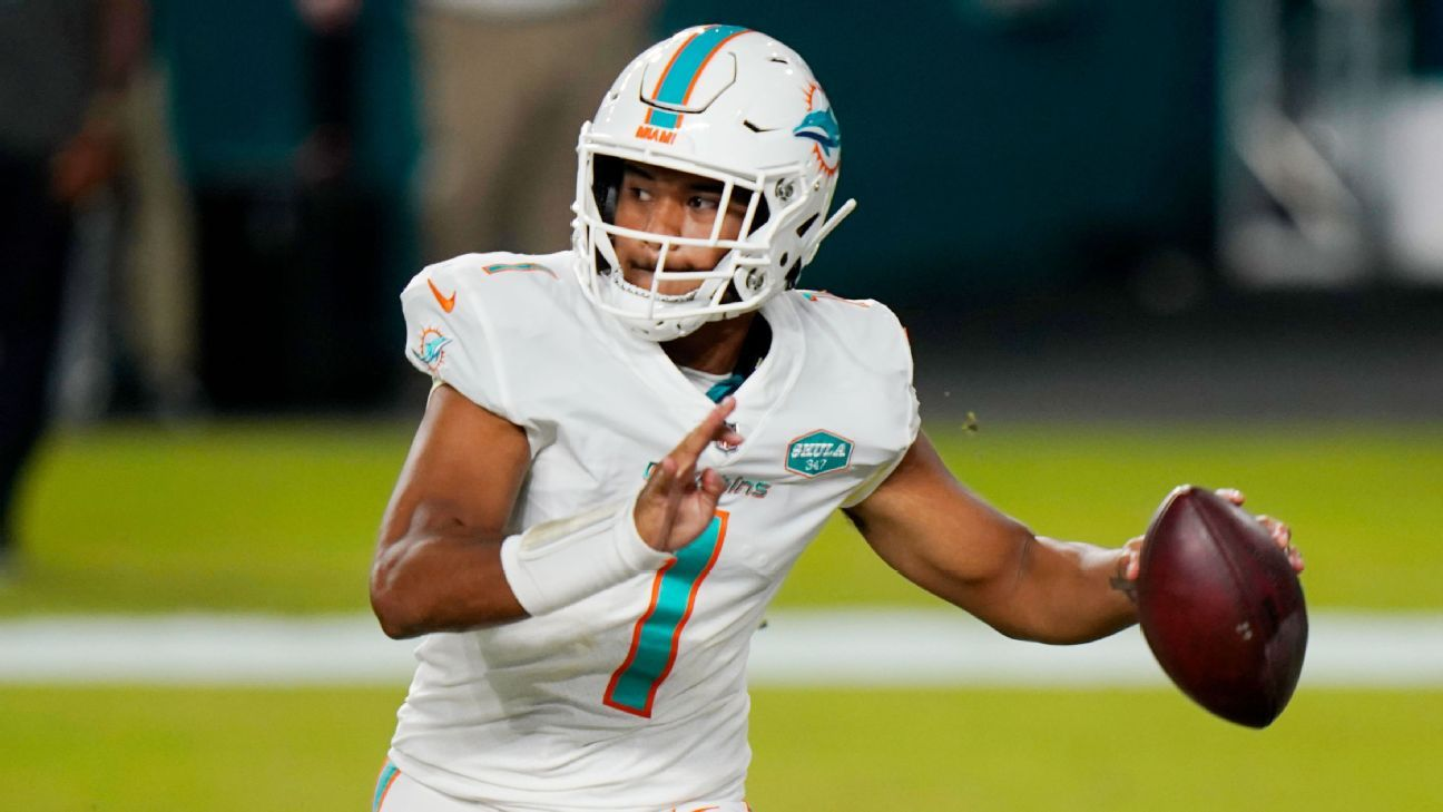 Miami Dolphins coach Brian Flores says starting Tua Tagovailoa is what's best for team – ESPN