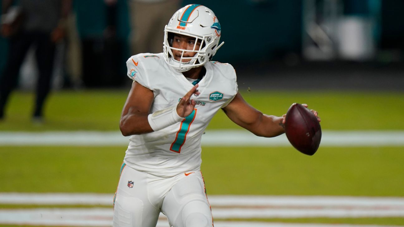 Tagovailoa makes NFL debut in Dolphins' blowout thumbnail