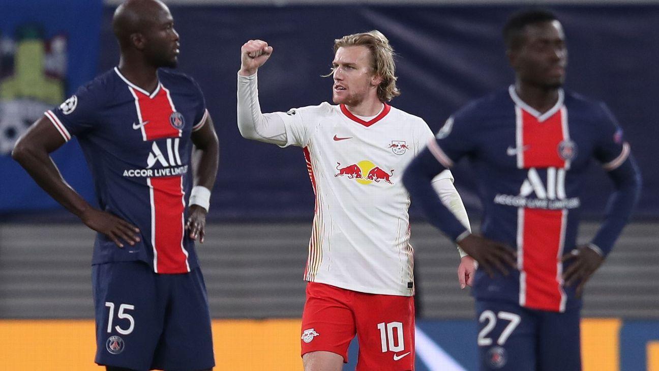 RB Leipzig 2x1 PSG champions league 2020 liga dos campeões