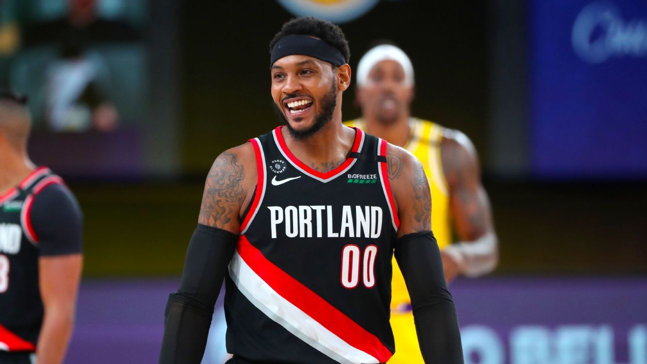 Los Angeles Lakers, Carmelo Anthony agree to one-year NBA free-agency contract - ESPN