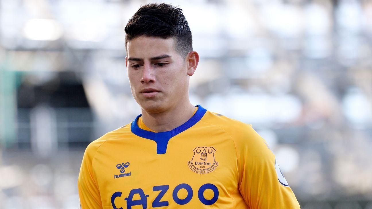 Destellos y participación en dos goles: los números de James en Everton ante Fulham