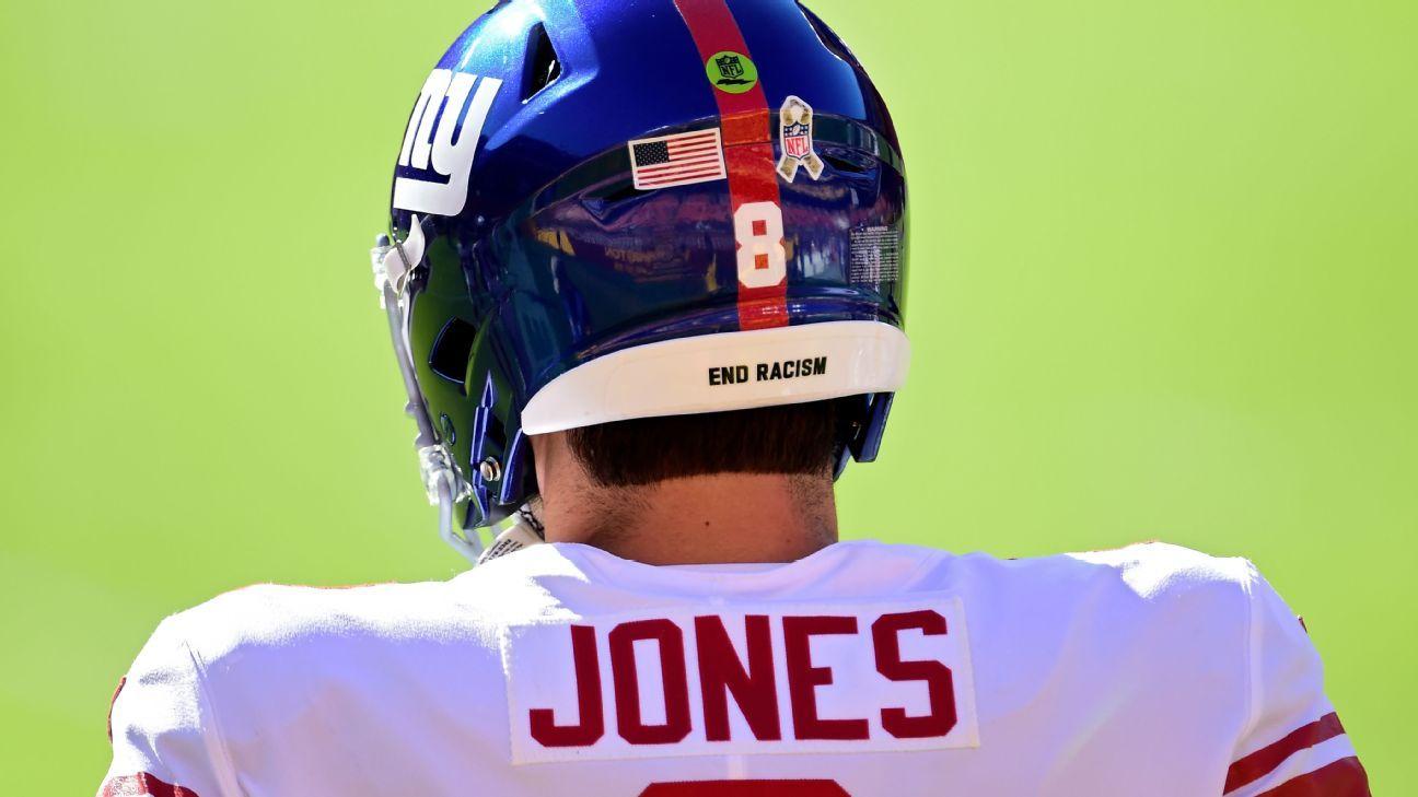 NFL brings back social justice helmet decals, end zone stencils as part of Inspire Change platform