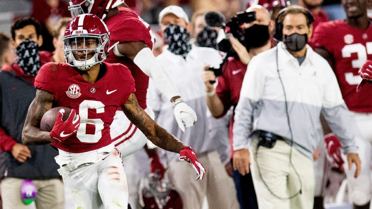 Alabama Notre Dame Clemson Ohio State round out top 4 in initial College Football Playoff rankings; BYU (9-0) at No. 14 – ESPN