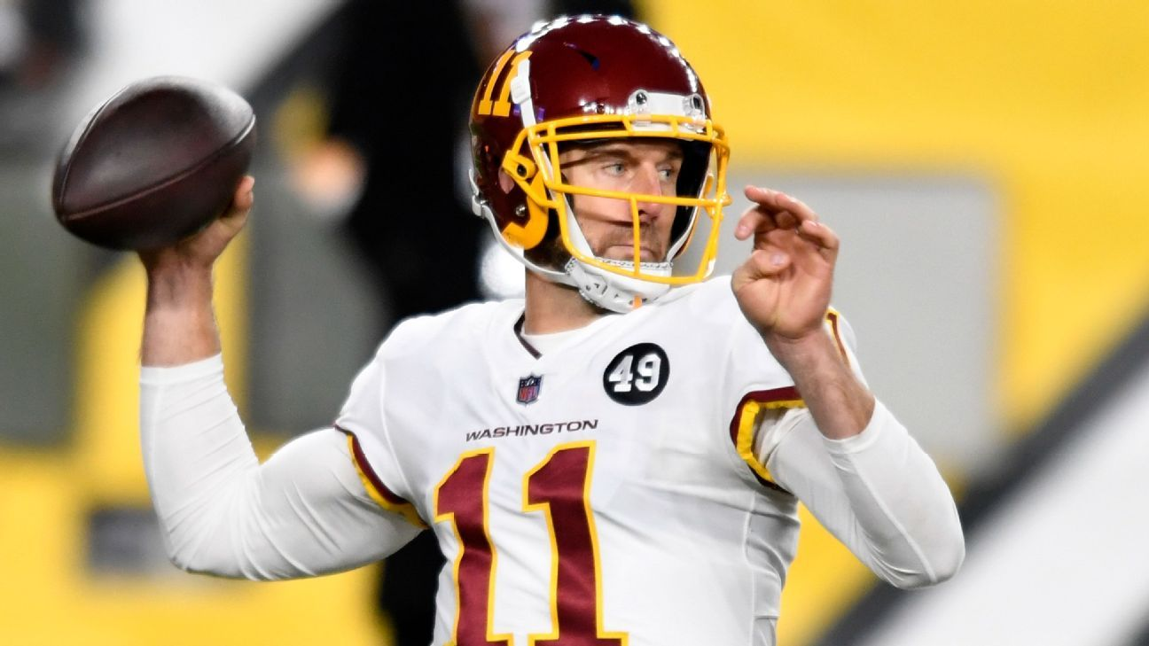 Washington Football Team releases quarterback Alex Smith