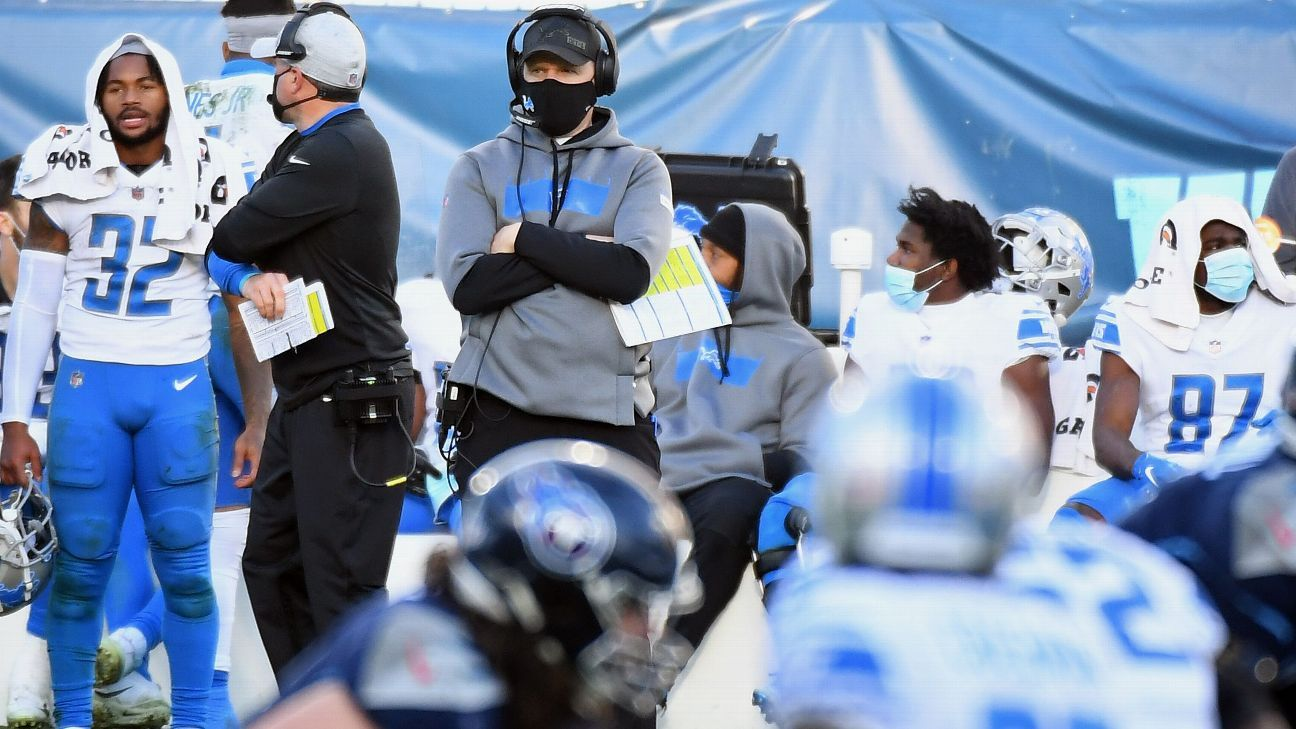 Several Detroit Lions coaches stay away from team because of contact tracing – ESPN
