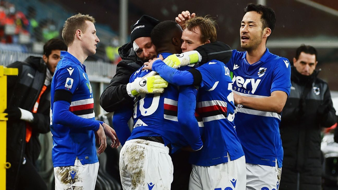 Sampdoria Vs Internazionale Football Match Report January 6 2021 Espn