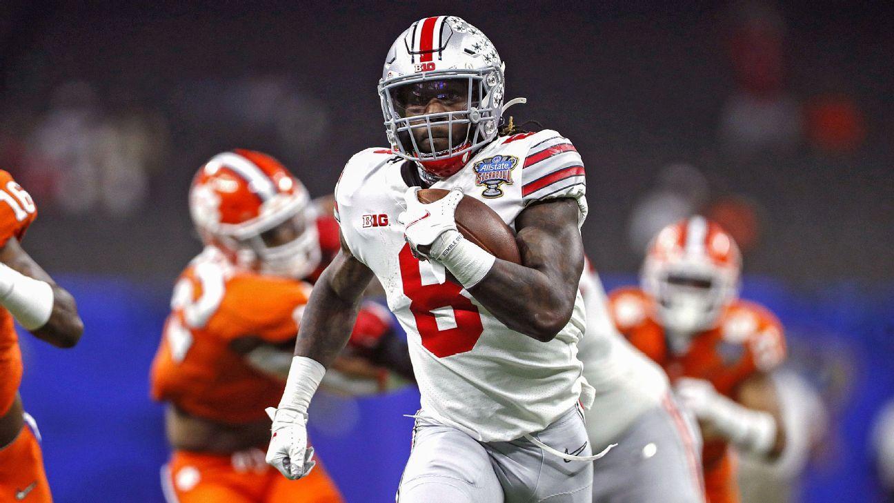 Ohio St. RB Sermon says he's entering NFL draft