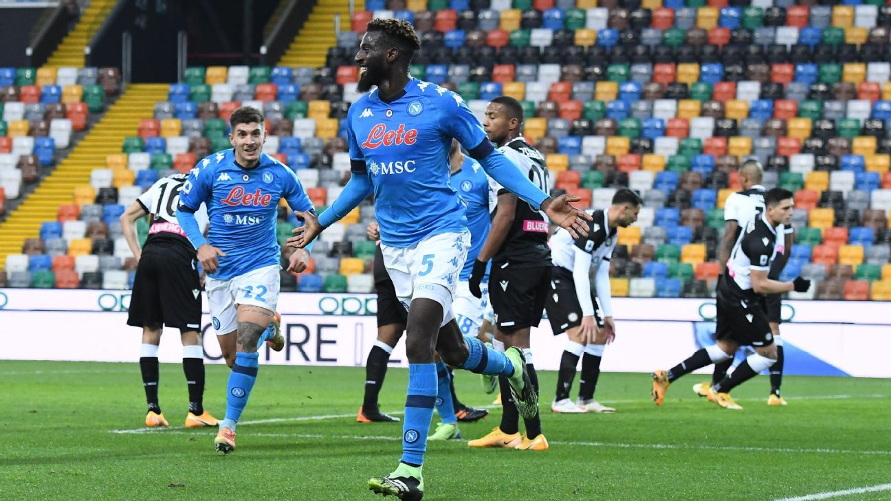Udinese Vs Napoli Football Match Report January 10 2021 Espn