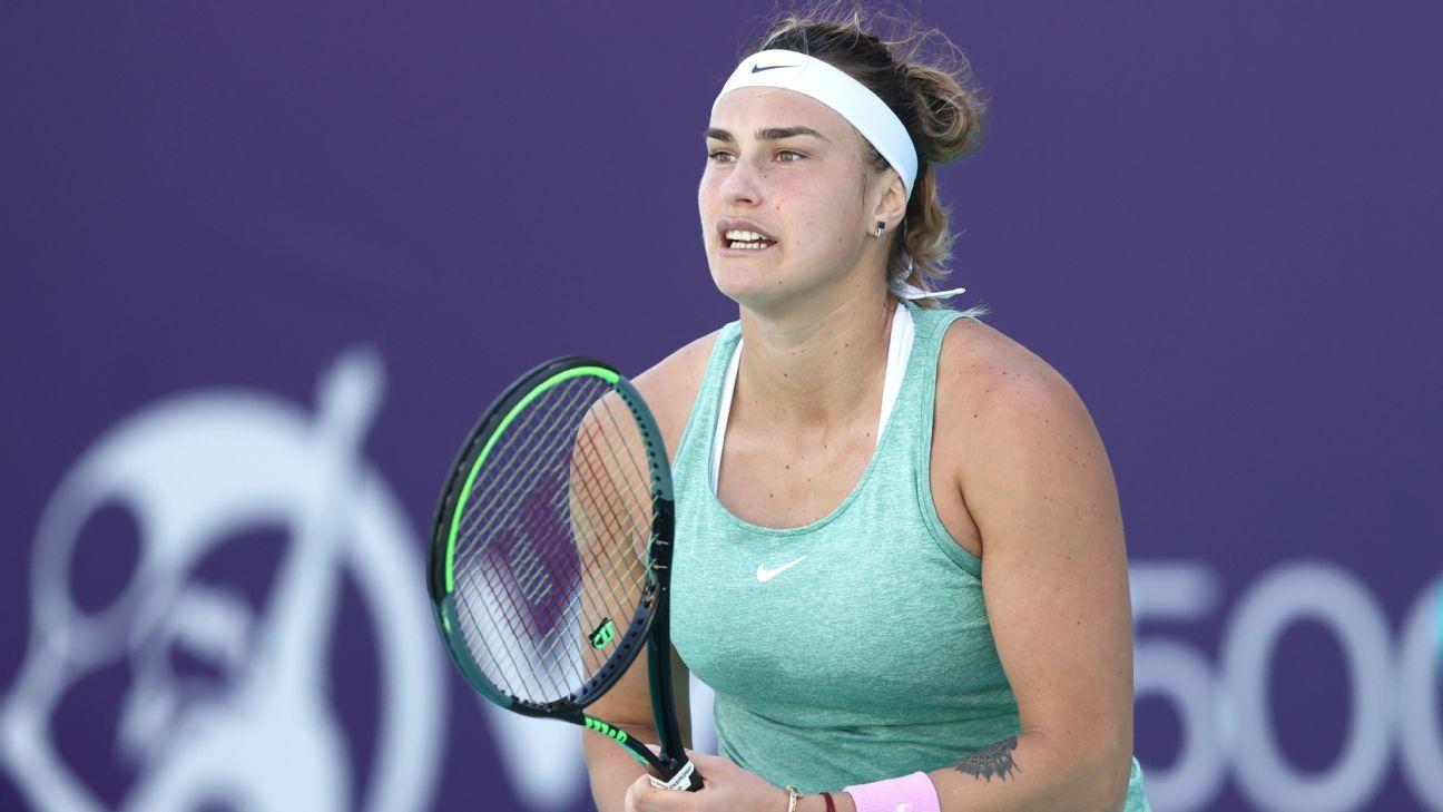 Aryna Sabalenka reaches Abu Dhabi final after 14th